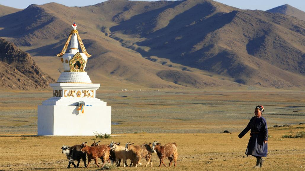 nomade en mongolie