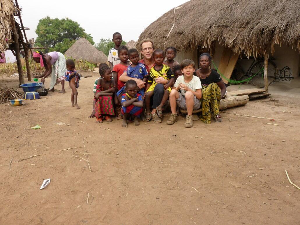 Christophe et son fils en Guinée Conakry