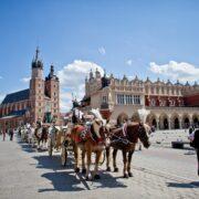 krakow, rynek, dorozka