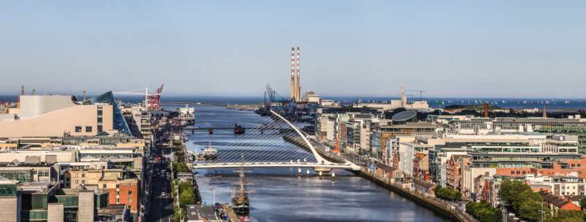 Dublin's Docklands from Liberty Hall