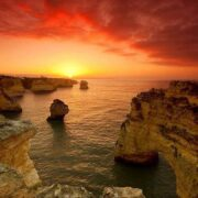 Entardecer no Algarve