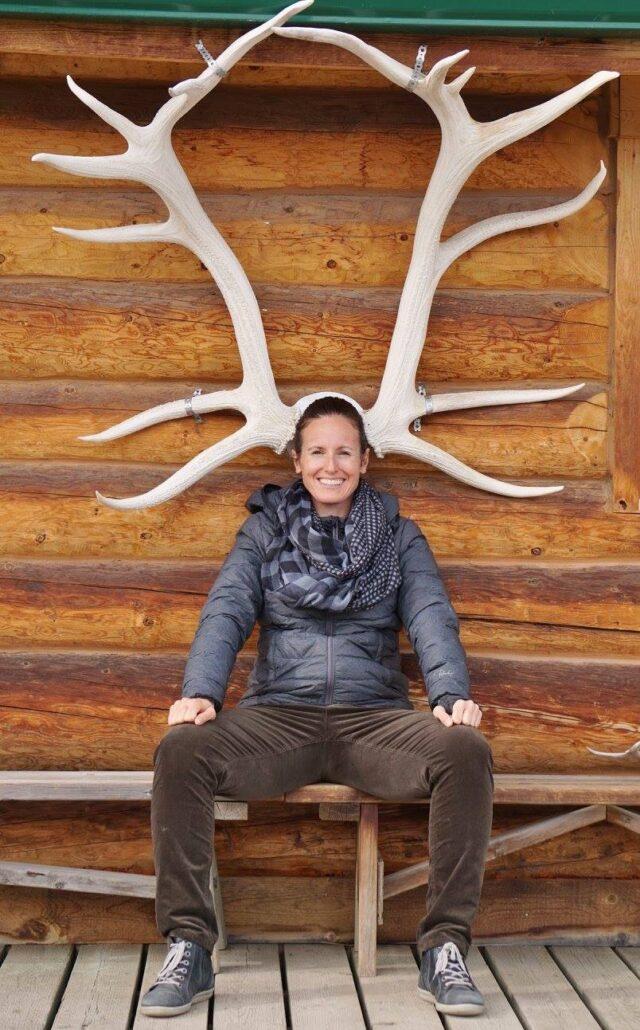 Isabelle Bouffard, représentante de Tourisme Yukon, à la Réserve faunique du Yukon.