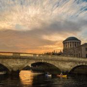 Kayaking on the River Liffey in Dublin