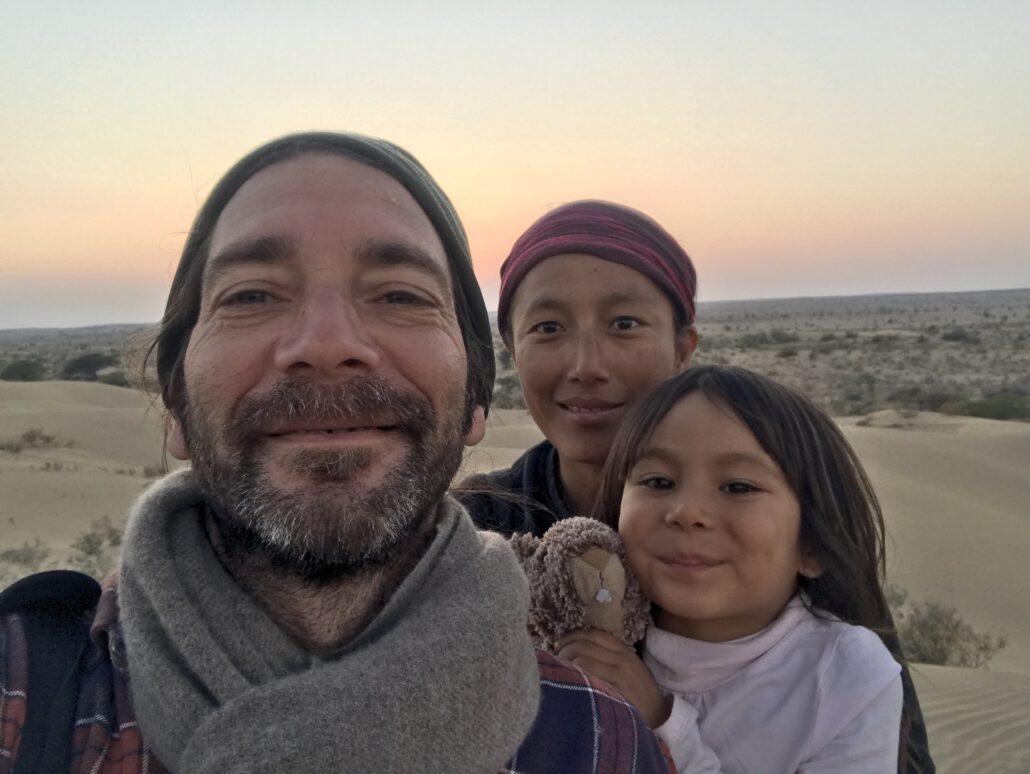 Alex, de Shanti travel, et sa famille